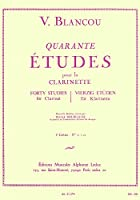 ブランク : 40の練習曲 第二巻 (クラリネット教則本) ルデュック出版