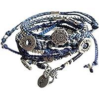 WAKAMI(ワカミ) WA0389-90 Earth Bracelet - Blue colours 7本セット アースブレスレッ [並行輸入品]