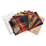 (フェリシモ) スコットランド伝統のウールチェック生地 ハリスツイードカットクロスセット