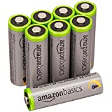 Amazonベーシック 充電池 高容量充電式ニッケル水素電池単3形8個パック(充電済み、最小容量 2400mAh、約500回使用可能)