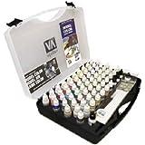 Vallejo Model Colour 72 Basic Colours + Brushes Plastic Case Set Miniatures