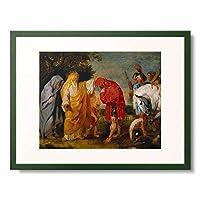 ピーテル・パウル・ルーベンス Peter Paul Rubens 「Die Totenweihe des romischen Feldherrn Decius Mus. Ol-Skizze.」 額装アート作品