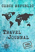 Czech Republic Travel Journal: Notebook 120 Pages lined 6x9 Vacation Trip Planner Travel Diary Farewell Gift Holiday Planner