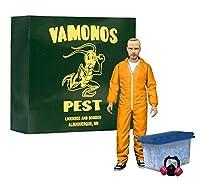 ブレイキングバッド ジェシーピンクマン フィギュア オレンジ 危険物スーツ 15cm
