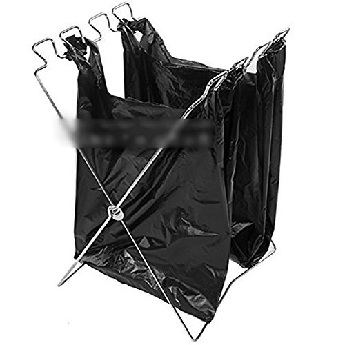 【 簡単 設置 】 折り畳み 式 ゴミ 袋 スタンド コンパ...