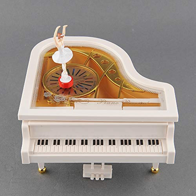Hoxekle ラブリードリーマー ホワイトピアノダンサー 踊るアリス バレエ 女の子 音楽 オルゴール おもちゃ バレンタインギフト