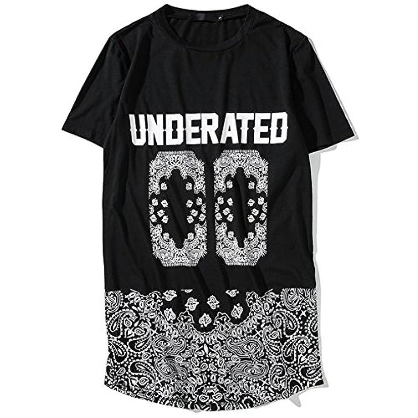 アナニバー輝く明らかにGRESS ロング丈 メンズ tシャツ 半袖 ストリート おしゃれ 黒 白 オーバーサイズ