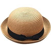 Lieteuy 子供 幼児 親子お揃い 赤ちゃん 帽子 母と私 蝶々結び 通気性のある帽子 麦わら帽子 少年 女の子 キャップ