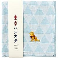 東京ハンカチハチ公刺繍入りガーゼハンカチスーベニール京都Japanese pattern embroidered gauze handkerchief