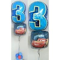 バルーン 誕生日 ディズニー カーズ 3歳 数字 変更可能 ヘリウムガス入り