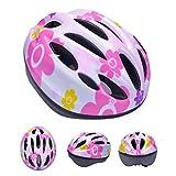 ヘルメット Yumiki 子供用自転車ヘルメット 軽量 頭に優しい 可愛い自転車、スケート用子供ヘルメット (ピンク)