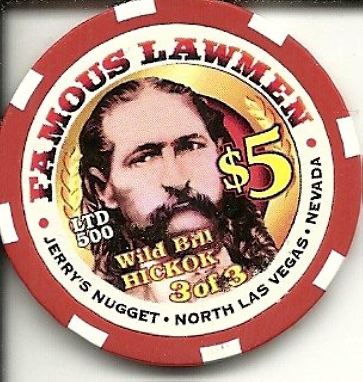 $ 5 Jerry 'sナゲットラスベガスカジノチップワイルド?ビル?ヒコック