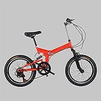 大人 折りたたみ自転車, 登山 折りたたみ自転車 7 スピード 折りたたみ自転車 男女 学生折りたたみ自転車-赤 20inch