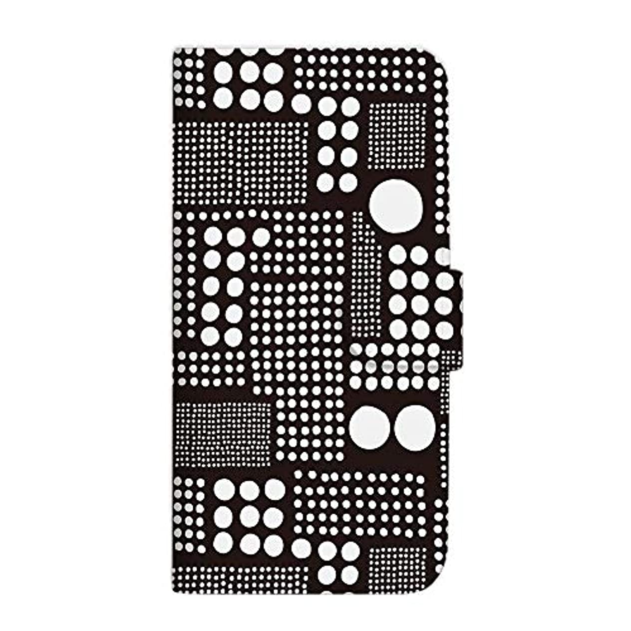 作動するデータム豊かにするmitas iPhoneXR ケース 手帳型 クスグルジャパンvol28 水玉3 (399) SC-3928-H/iPhone XR