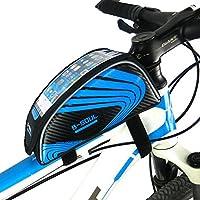 AOOPOO 自転車携帯バッグ 地図を簡単に読め サドルバッグ 軽量 取り付け簡単 完全防水 バイクスマホスタンド 収納アクセサリー 自転車カバン