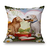 Bestdecorhouse Dog Pillow Cases 16 X 16 Inches / 40 By 40 Cm Best Choice For Wife,husband,home Office,kids Boys,bedding,gf With Two Sides