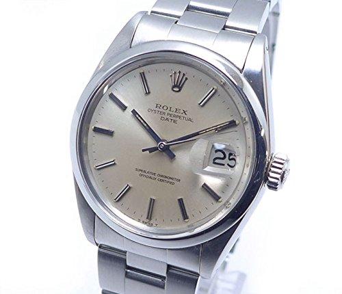 ロレックス オイスターパーペチュアル デイト Ref.1500 SS メンズ腕時計 自動巻き シルバー文字盤 1番 [中古]