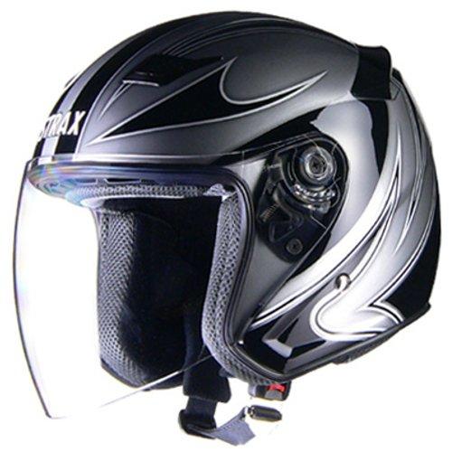 リード工業(LEAD) バイクヘルメット ジェット STRAX SJ-9 シルバー LL(61~62cm未満)