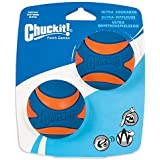 Chuckit! 33068 Ultra Squeaker Medium, 2 Pack, Blue & Orange