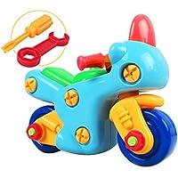 Linshop ファンシー分解トラックバイクのおもちゃ赤ちゃんリムーバブル?アセンブリのネジを1~3歳