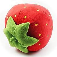 桜の雪 かわいい ふわふわ 桃 レモン イチゴ 抱き枕 クッション ぬいぐるみ おもちゃ 飾り物 お誕生日 プレゼント (イチゴ)
