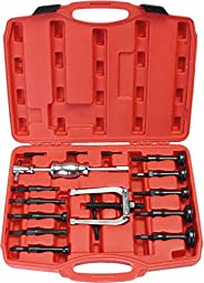 PK Tool PT51008 Inner Bearing with Slide Hammer and Adaptors Puller 16 Pieces Set