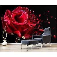 Mingld カスタム壁画壁紙3Dモダンフォトロマンチックな赤いバラリビングルームベッドルームテレビの背景-250X175Cm