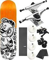 "Politic Wheelheadスケートボード7.75"" X 32"" Complete Skateboard–7項目のバンドル"