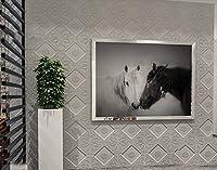 壁紙3D弾性brickTVの背景レンガ3D壁ステッカーリビングルームフレキシブルフォームのレンガのステッカーベッドルームの模造ソフトバッグ粘着壁紙の壁紙 (Color : Gray, Size : 58.5 * 58.5cm)