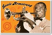 Louis Armstrong–新しい有名な人音楽ポスター