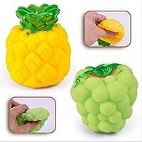 【ノーブランド 品】6本 かわいい ラバー きしむ フルーツ ベビー バス おもちゃ 贈り物