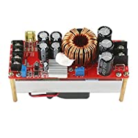 DROK DC-DC Boost Voltage Converter High Power 1500W 30A Non-isolated Volt Regulator Board 10~60V Step-up to 12~90V Power Supply Module with Cooling Fan [並行輸入品]