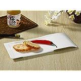 長皿(13号長方形)/おうちカフェ/業務用食器/寿司皿/すし皿/さんま皿/白食器