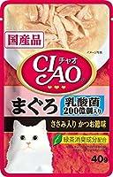 チャオパウチ乳酸菌入りまぐろささみ入りかつお節味40g【おまとめ6個セット】