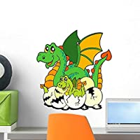Dragon Mom with Baby Wall Mural by Wallmonkeys Peel and Stick Graphic (18 in H x 17 in W) WM97693 [並行輸入品]