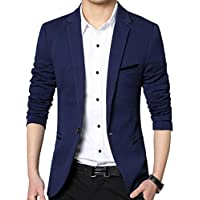 Men's Slim Fit Casual One Button Suits Coat Solid Blazer Business Casual Wedding Prom Party Blazer