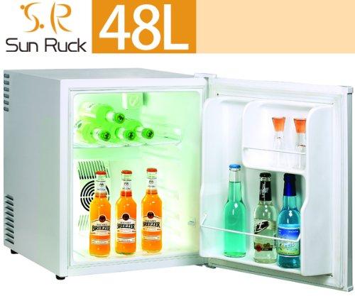 SunRuck (サンルック) 冷蔵庫 小型 48L ワンドア ペルチェ方式 1ドア 右開き SR-RF48 (ホワイト)