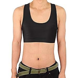 男性用ブラジャー メンズブラ 女性化乳房 ナベシャツ 胸つぶし メッシュ素材 an-f (S)