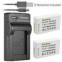 Kastar USB充電器、バッテリーfor en-el22–1en-el22enel22el22