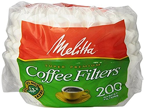 Melitta [メリタ] 8から12カップ用 バスケットタイプ コーヒーフィルター 200枚 Basket Coffee Filters White (8 to 12-Cup) 200-Count Filters [並行輸入品]