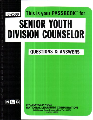 Senior Youth Division Counselor (Career Examination Series C-2500)