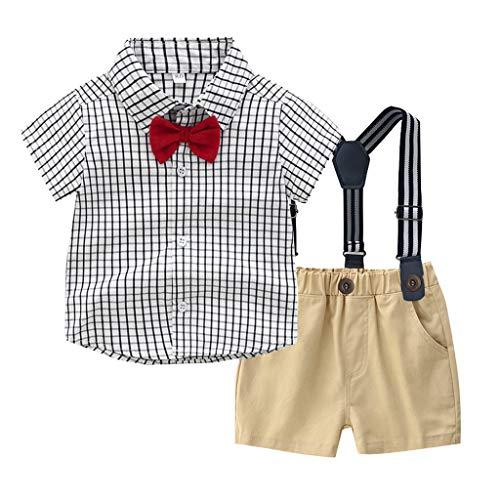 cc4746b97536b 子供服 紳士服 男の子 フォーマル 半袖 セレモニー衣装 洋服 ベビー服 Sakuranbo ちょう結び チェック柄