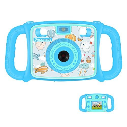 DROGRACE キッズカメラ 2.0インチ 4倍ズーム 録画可 フルHD1080P 日本語説明書付...