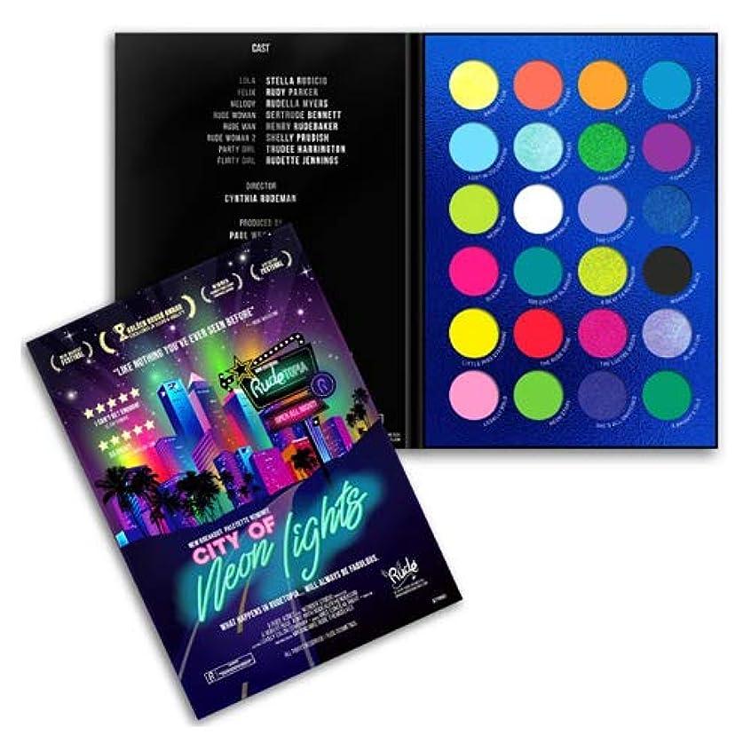 秘書軽司教RUDE City of Neon Lights - 24 Vibrant Pigment & Eyeshadow Palette (3 Pack) (並行輸入品)