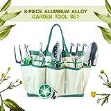 ホーム&ガーデン Best Deals - GardenHOME ガーデニングマスターツール8点セット【丈夫なアルミニウム合金製・収納用トート付き】