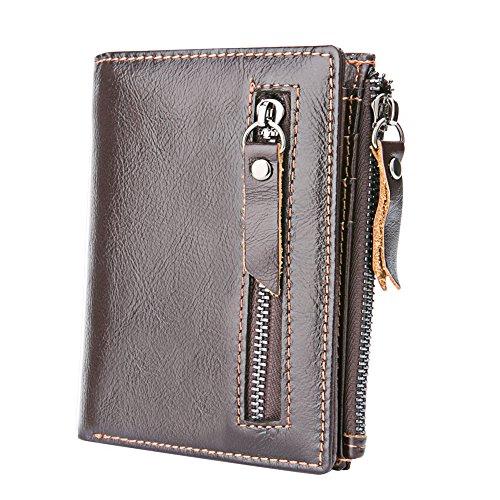 Foloda メンズ財布 名入れ 二つ折り財布 薄い財布 小...