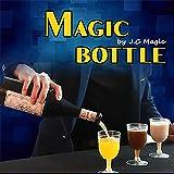 Magic Bottle / マジックボトル 魔法ビン 多機能 三色 酒瓶から三種類液体を流れる ボトル浮いてる フローティングマジック 近景ステージマジック道具