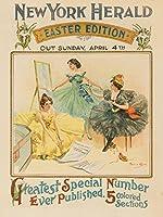 新しいYork Herald–Easterヴィンテージポスター(アーティスト: Archie Gunn ) USA C。1897 12 x 18 Art Print LANT-63992-12x18