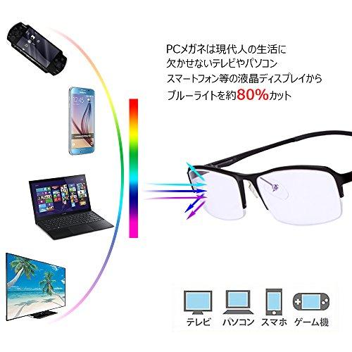 Belle Poque パソコン用ブルーライトカットメガネ PCブラウンレンズ 大人用紫外線カット輻射防止眼鏡 パソコン・スマホ・ゲームのブルーライトから目を守るPCメガネ