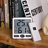 Weather Station 8-channel Wireless Thermo-Hygrometer With 3 Remote Sensor(Color:Silver & black)